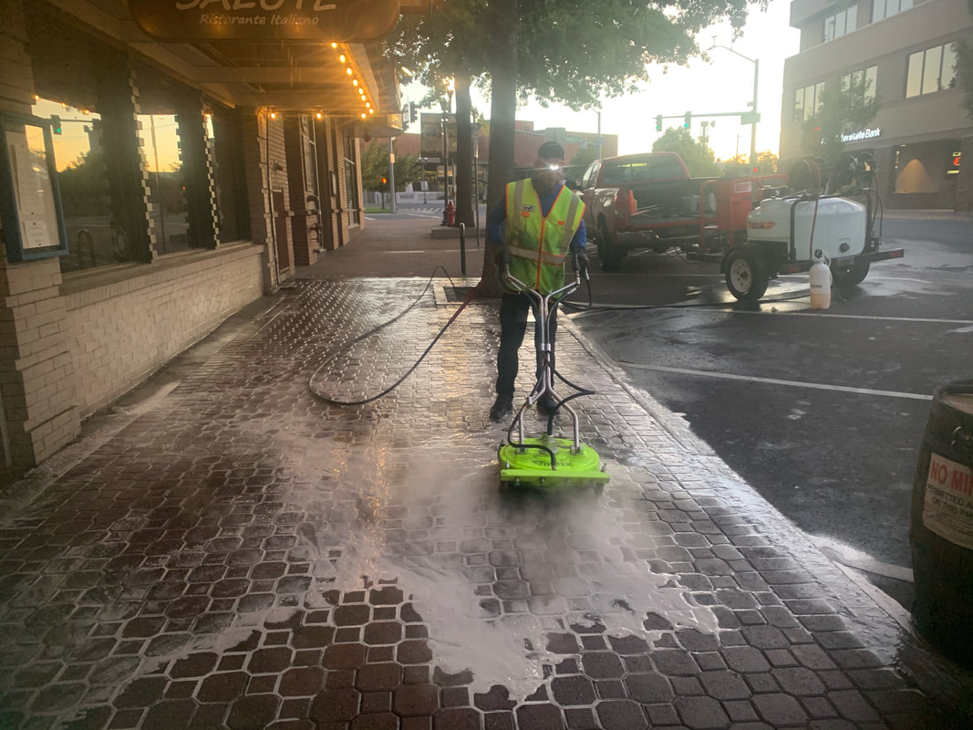 Downtown Bend Business Association (DBBA) cleaning the streets
